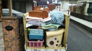 富士市で遺品整理での回収にお伺いしました。