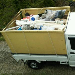 伊豆市で細かい家庭ゴミ回収依頼の回収写真