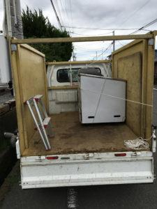 富士市で、冷凍庫回収のご依頼2