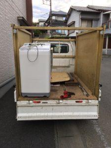 三島市にて、洗濯機回収のご依頼1