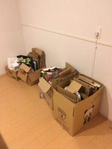 伊豆市にて、家庭ゴミ、ダンボールなどの回収1