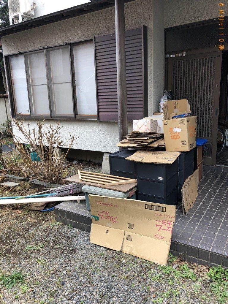 【駿東郡長泉町】折り畳みベッド、衣装ケース、ダンボールなどの出張不用品回収・処分ご依頼