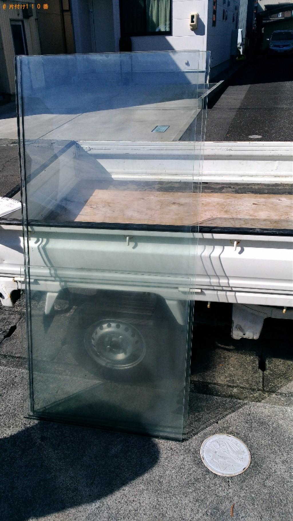 【焼津市】ガラスケースの回収・処分ご依頼 お客様の声