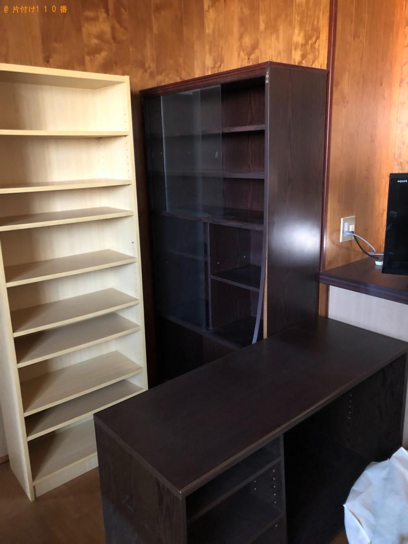 【裾野市】遺品整理で本棚、タンス、マットレス付きシングルベッドの回収・処分