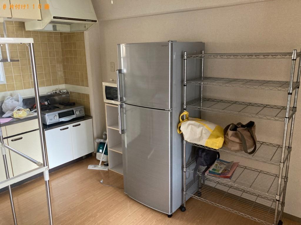 【静岡市】冷蔵庫、カラーボックス、メタルラック、テレビ等の回収